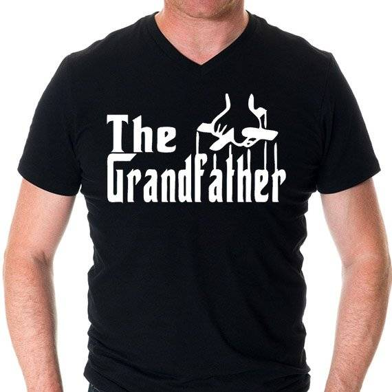 "חולצה מודפסת לגבר ""the Grandfather"""