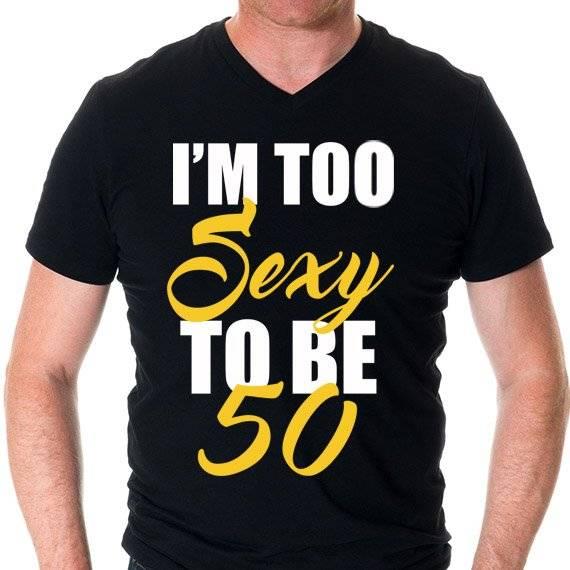 """חולצה מודפסת לגבר """"Too Sexy"""""""