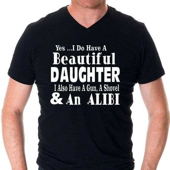 """חולצה מודפסת לגבר """"Alibi"""""""