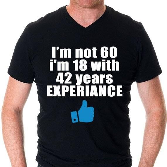 """חולצה מודפסת לגבר """"Experiance"""""""