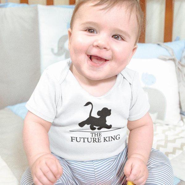 """סט לאבא ולתינוק עם הדפס """"King and Future King"""""""