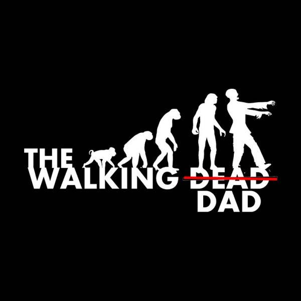 חולצה מודפסת לגבר ״The Walking Dad״
