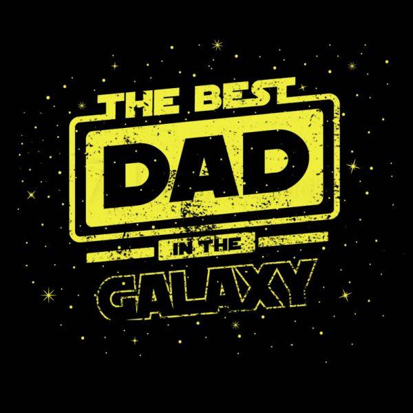 """חולצה מודפסת לגבר """"Galaxy Dad"""""""