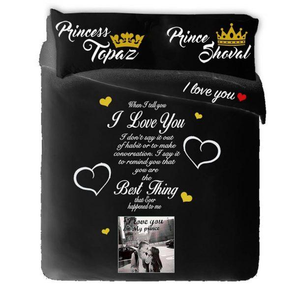 """כרית למיטה זוגית """"Prince&Princess"""""""