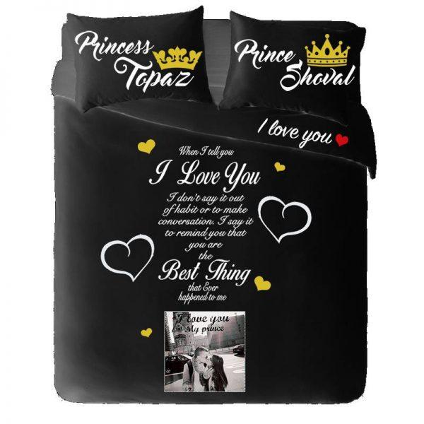 """סט מצעים """"Prince & Princess"""""""