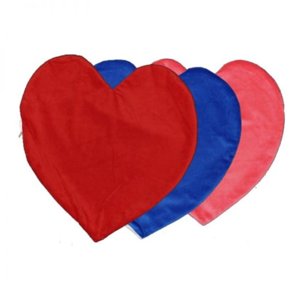 כרית קטיפה בצורת לב