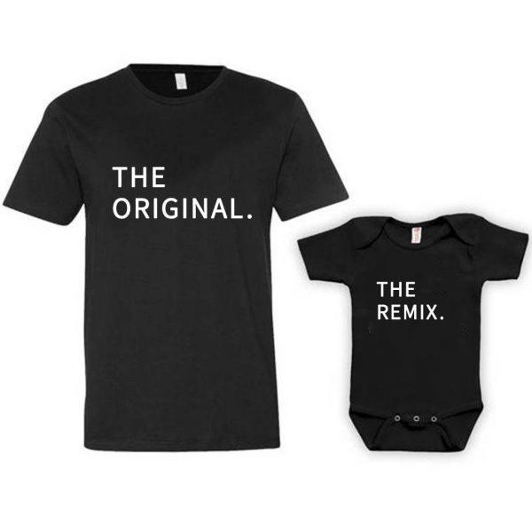 """סט לאבא ולתינוק עם הדפס """"Original and Remix"""""""