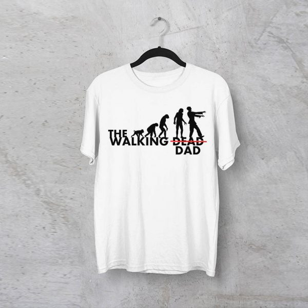חולצה מודפסת לגבר ״The Walking Dad״