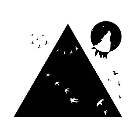 """חולצת היפסטר """"Birds And Wolf"""""""