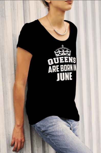 חולצת מלכות Queens Are Born In