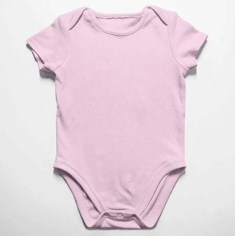 הדפסה על בגד תינוק ורוד