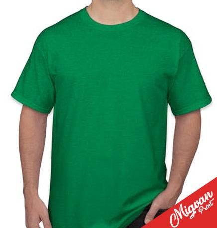 חולצה להדפסה ירוק בנטון