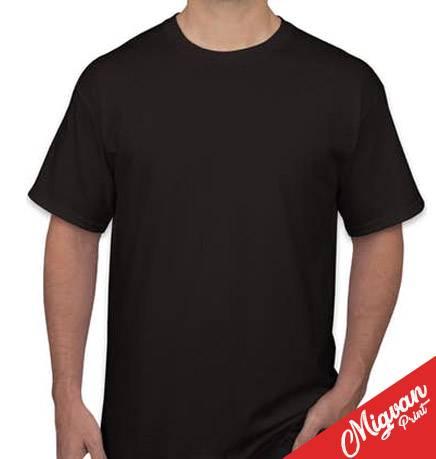 חולצות כותנה להדפסות שחורה