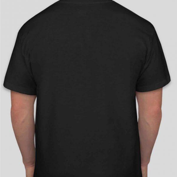 חולצת כותנה בצבע שחור לגברים צווארון עגול שרוול קצר [ מותג – T-Wear ]