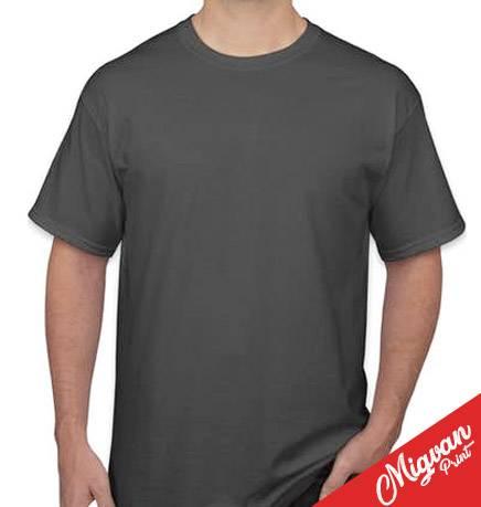 הדפסה על חולצה אפורה