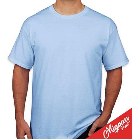 חולצה תכלת עם הדפס