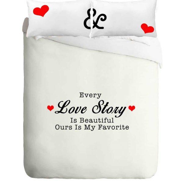 סט מצעים סיפור אהבה בעיצוב שלכם!