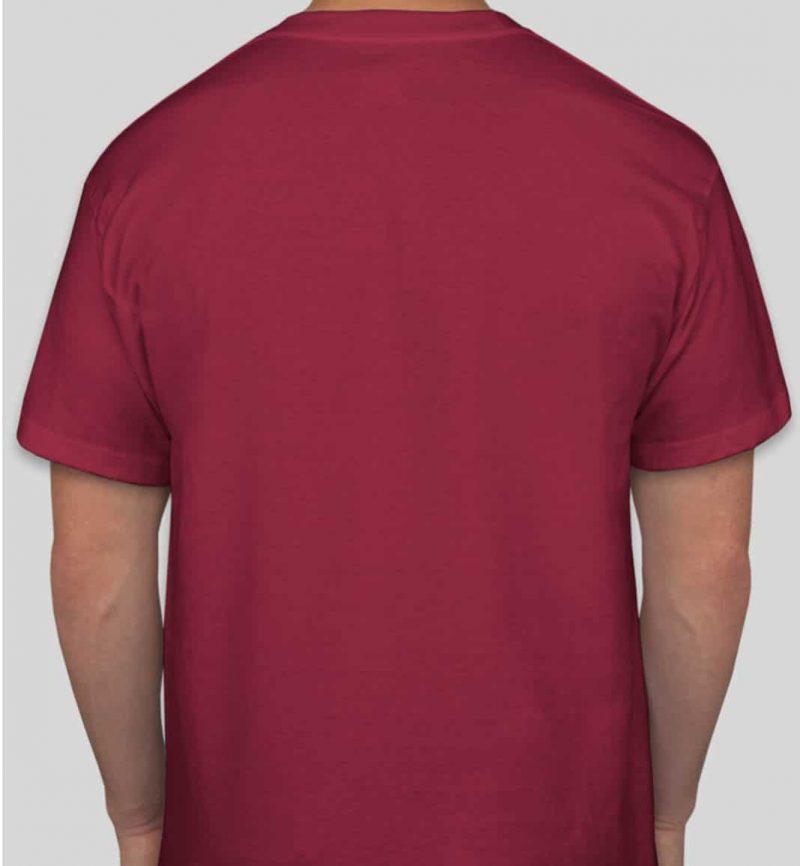 חולצה בורדו עם הדפס
