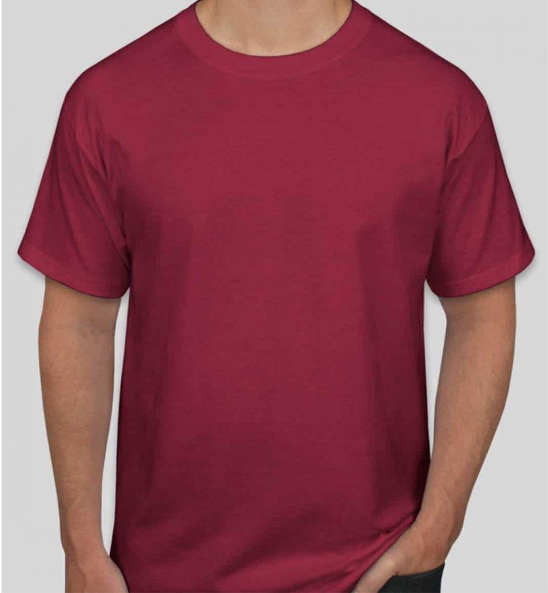 חולצה בורדו בעיצוב אישי
