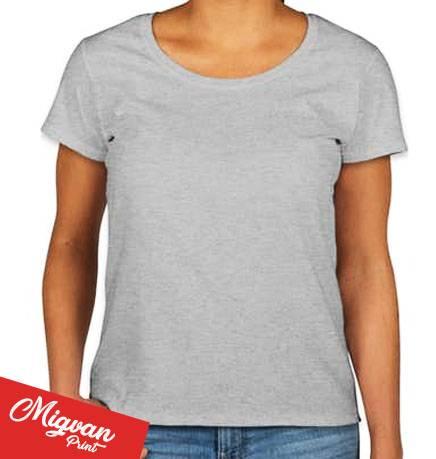 חולצות כותנה לנשים צווארון עגול