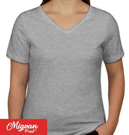 חולצות כותנה לנשים צווארון וי