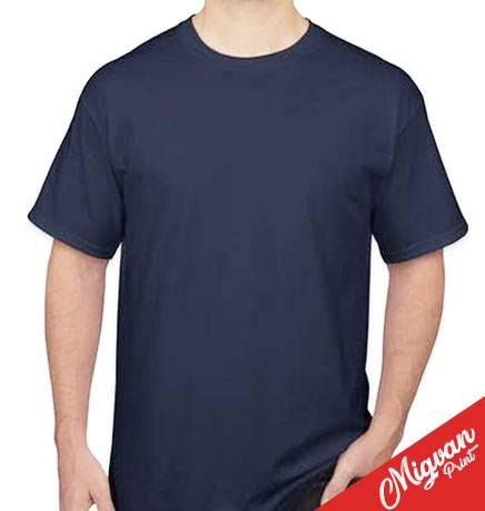 חולצות כותנה לגברים צווארון עגול