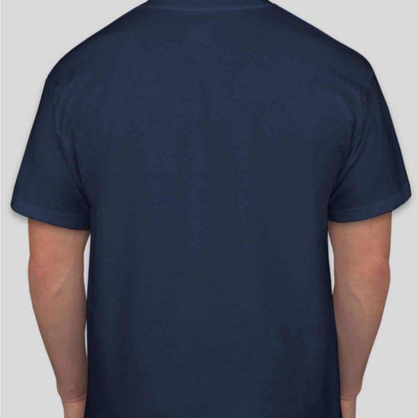 חולצת כותנה בצבע כחול נייבי לגברים צווארון עגול שרוול קצר [ מותג – T-Wear ]