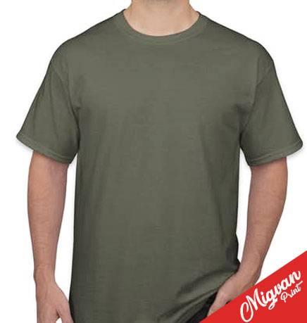 חולצה ירוק זית להדפסה