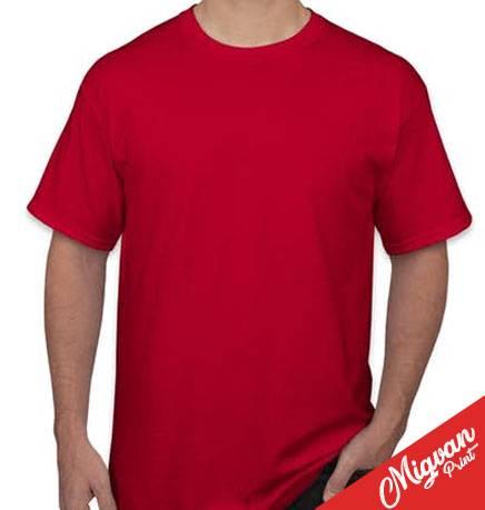 חולצה אדומה להדפסה