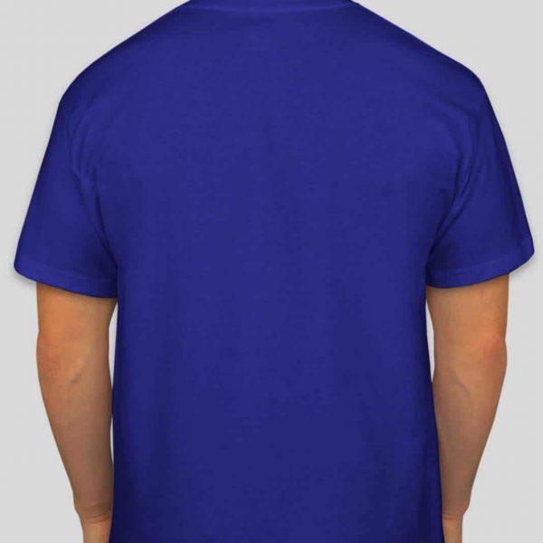 חולצת כותנה בצבע כחול רויאל לגברים צווארון עגול שרוול קצר [ מותג – T-Wear ]