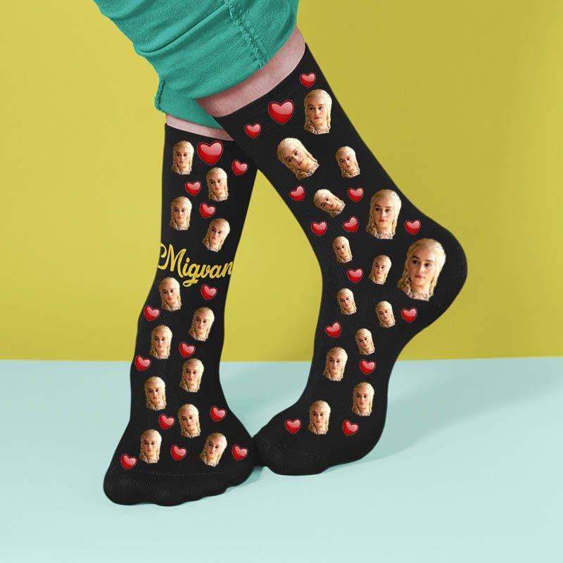 גרביים עם הדפסה