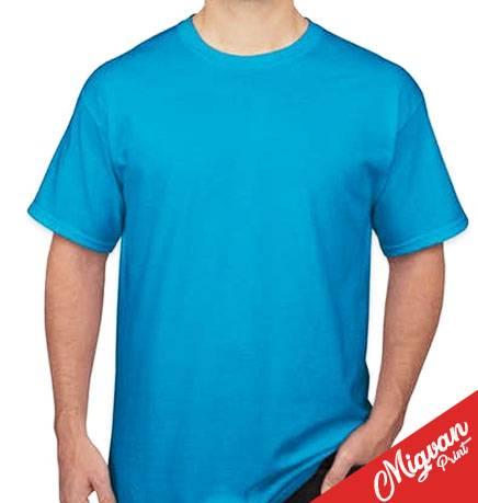 הדפסה על חולצה טורקיז