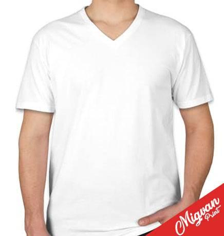 חולצות כותנה וי לגברים