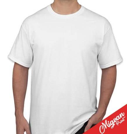 חולצה להדפסה לבנה