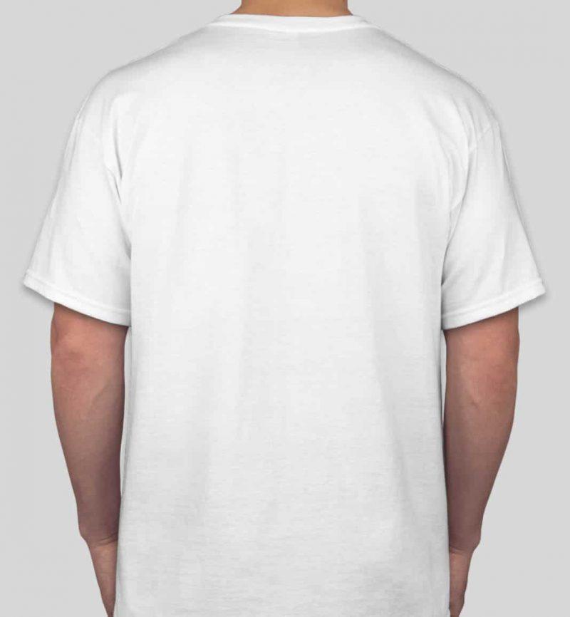 חולצה לבנה עם הדפסה