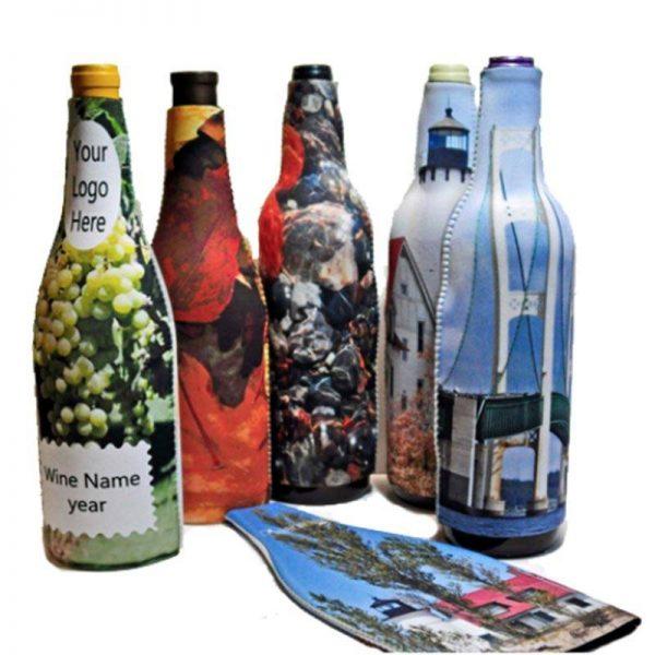 כיסוי מודפס לבקבוק יין