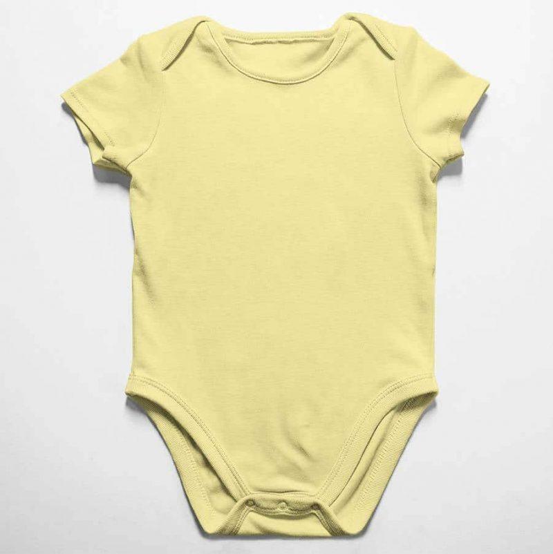 הדפסה על בגד תינוק צהוב