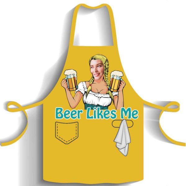 סינר מודפס Beer Likes Me