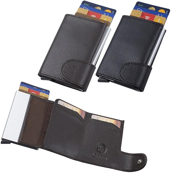 ארנק בטיחות מעור נפה NFC+ RFID שולף כרטיסי אשראי מבית המותג גבעוני