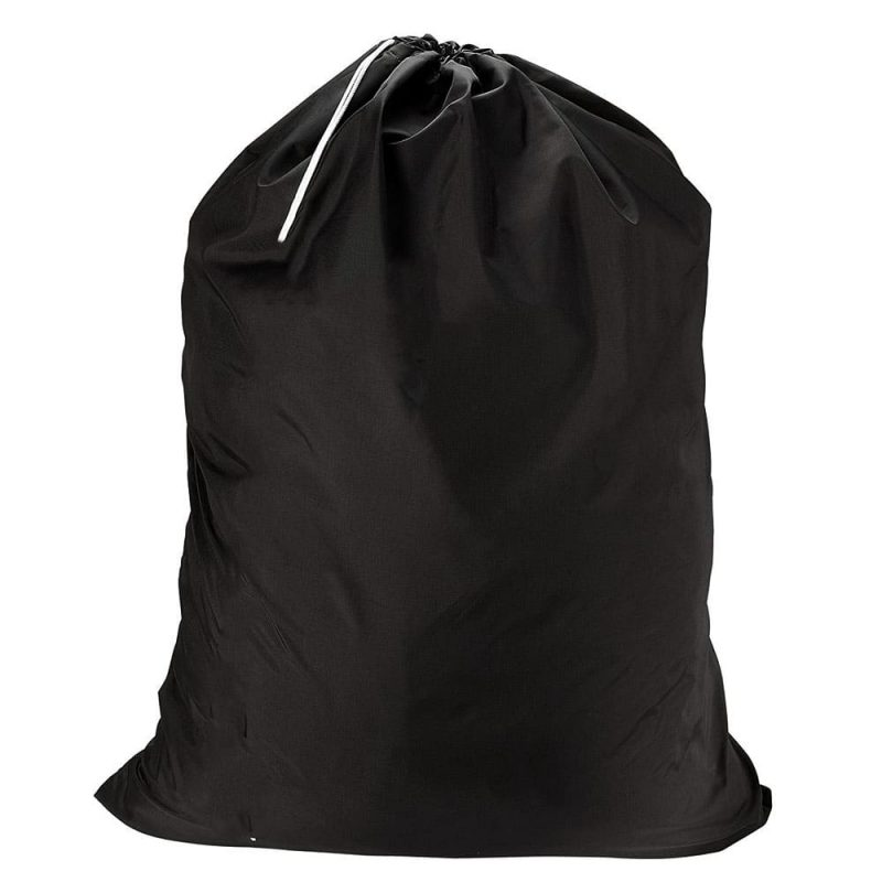 סל כביסה שחור עם הדפסה