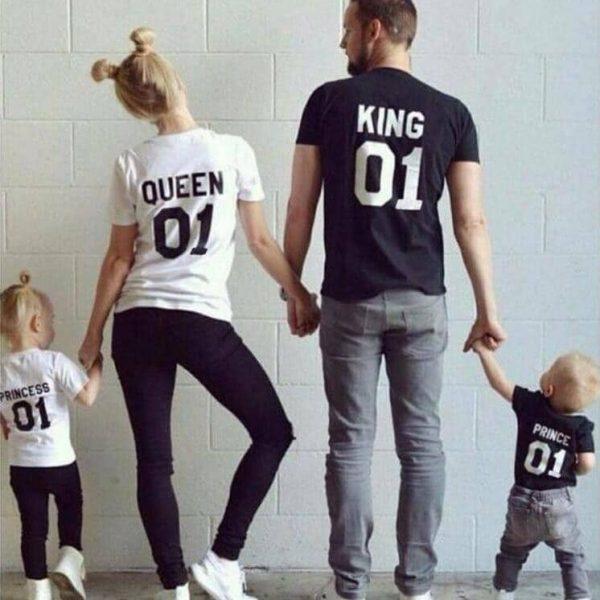 חולצות מלכים מלכות נסיכים ונסיכות לכל המשפחה!