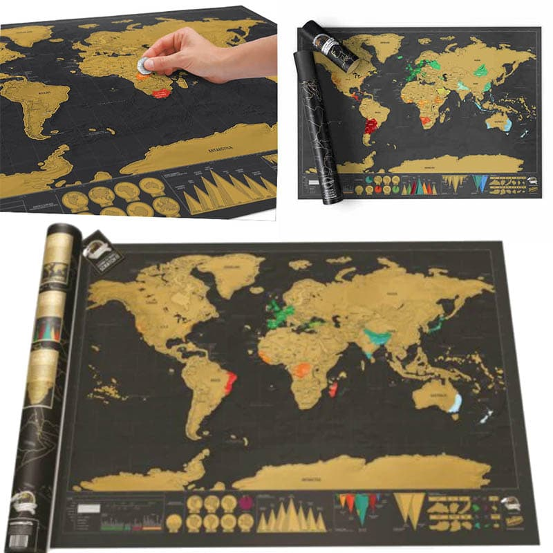 מפת גירוד של העולם