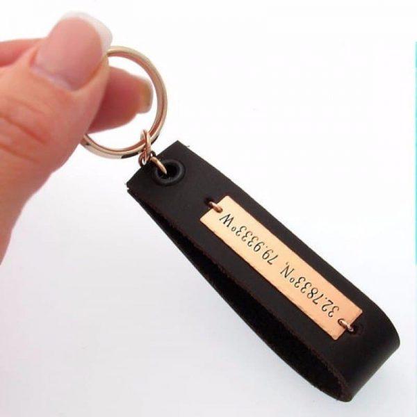 """מחזיק מפתחות לגבר דגם """"לאגו"""""""