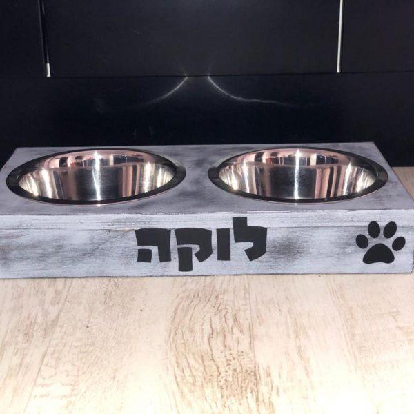 כלי אוכל לכלב מעוצב בהתאמה אישית (מידה לארג)