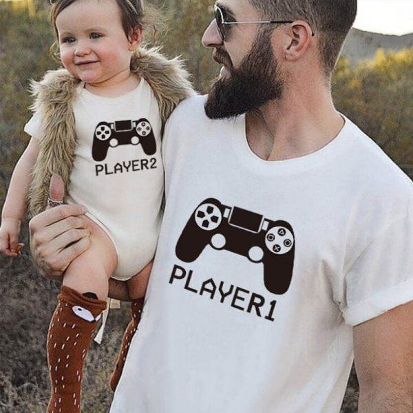 """סט לאבא ולתינוק """"Player 1 & Player 2"""""""