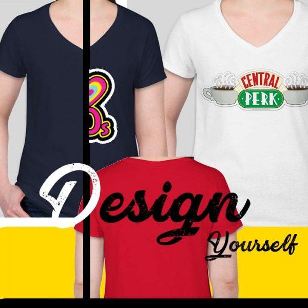 הדפסה על חולצת נשים בהתאמה אישית