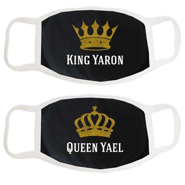 זוג מסכות לזוגות King & Queen