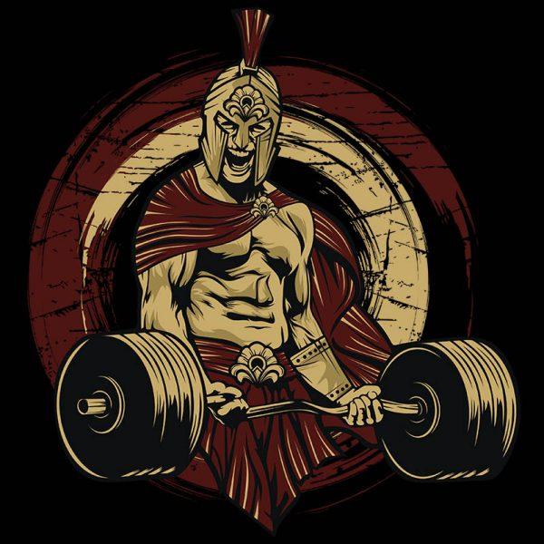 """חולצה מודפסת לגבר """"Spartan"""""""