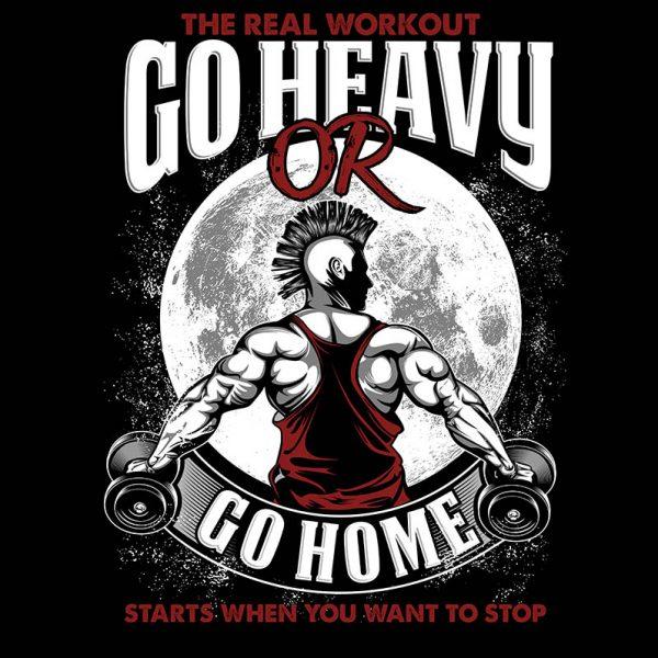 """חולצה מודפסת לגבר """"Go Hard"""""""