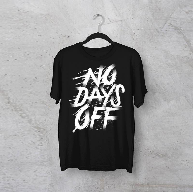 """חולצה מודפסת לגבר """"Days Off"""""""